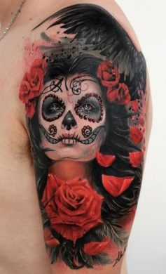 Tatuaggi tattoo Sugar Skull By ALEX DE PASE